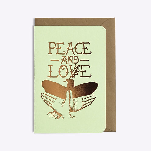 carte peace and love LES EDITIONS DU PAON