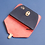 Thumbnail: portefeuille paimpol vermillon & gris nubuck ATELIER DIMANCHE