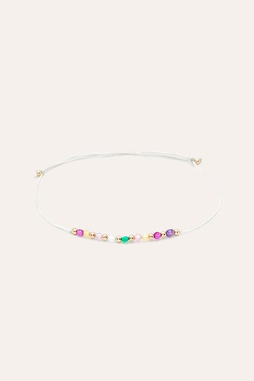 bracelet cordon pierres multicolores YAY