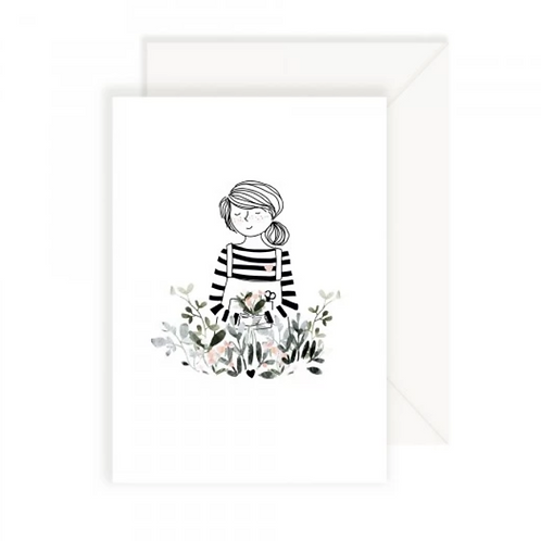 carte fille avec bouquet MY LOVELY THING