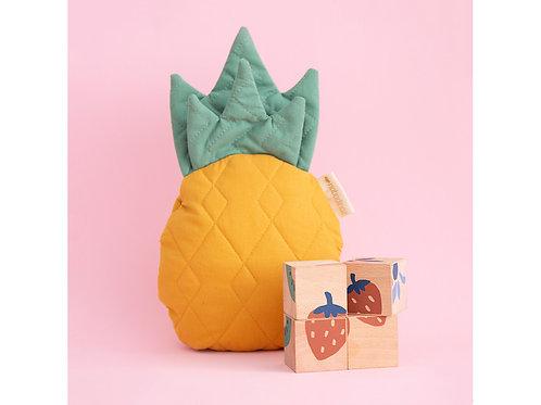 cube en bois fruits NOBODINOZ