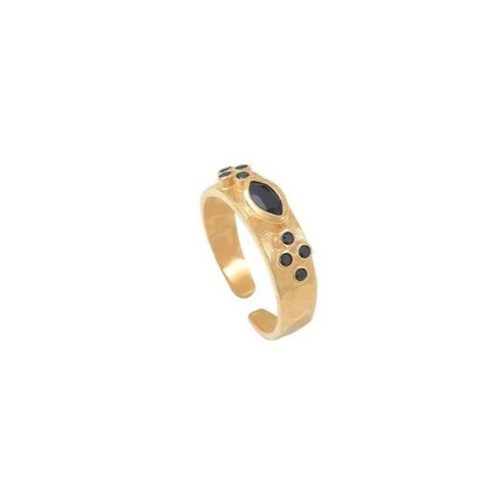 Bague marquise onyx LETICIA PONTI