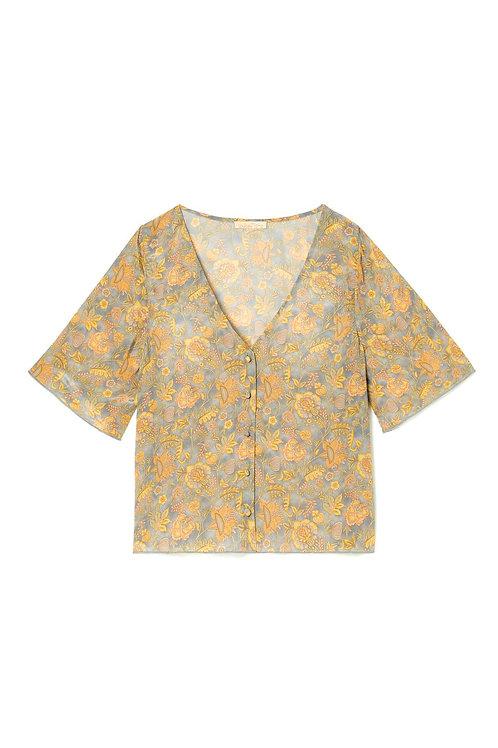 blouse goyava grey california flowers LOUISE MISHA