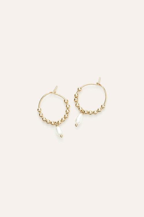 boucles d'oreille petits anneaux grain de riz YAY