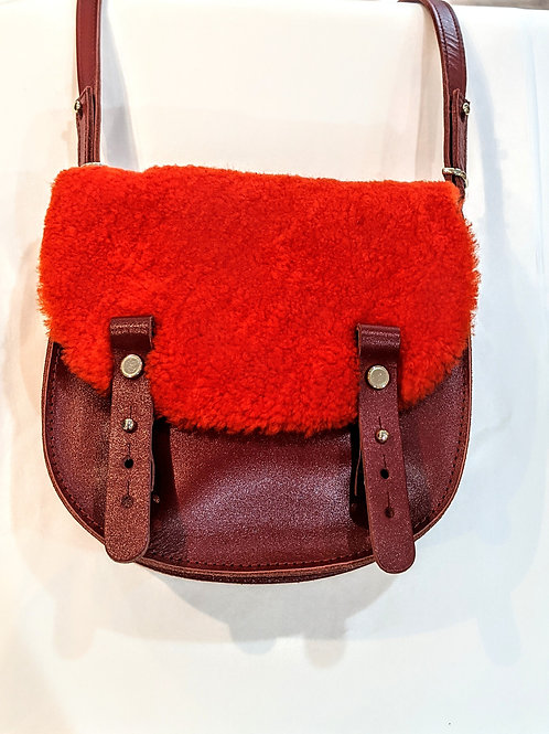 sac mini lune lainée orange CRAIE