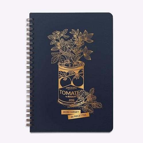 carnet recettes bleu jolie conserve  LES EDITIONS DU PAON