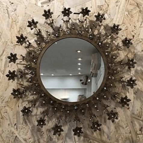 miroir fleurs BON COEURS