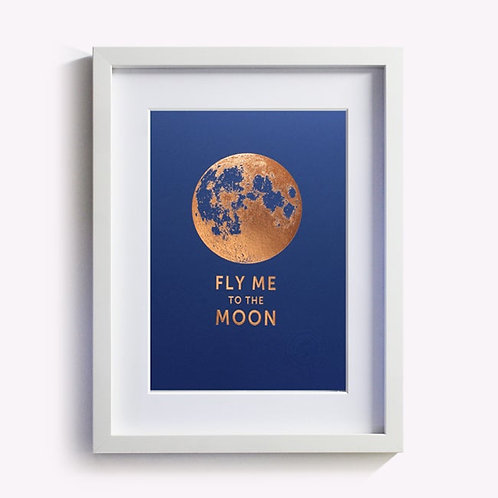 affichette fly me to the moon LES EDITIONS DU PAON