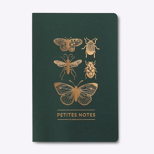 carnet dos carré papillons & cie LES EDITIONS DU PAON