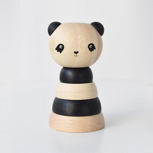 jouet en bois à empiler panda WEE GALLERY