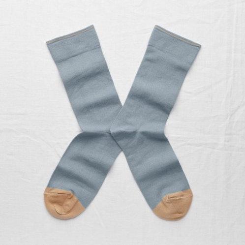 chaussette bleu orage BONNE MAISON