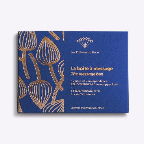 """boîte à messages """" félicitation"""" LES EDITIONS DU PAON"""