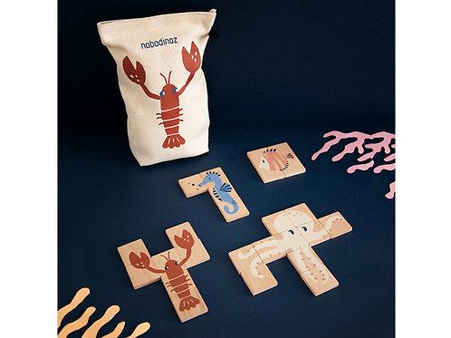 puzzle en bois animaux marins NOBODINOZ