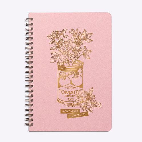 carnet de recettes rose jolie conserve LES EDITIONS DU PAON