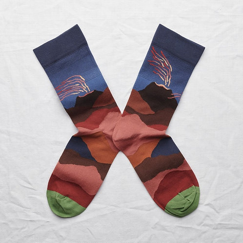 chaussettes volcan ardoise BONNE MAISON