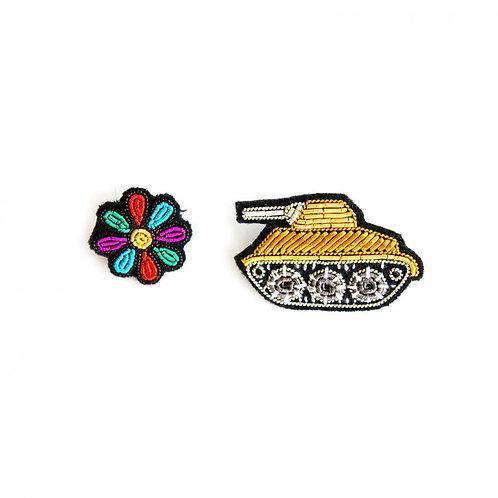 broche tank+fleur MACON & LESQUOY