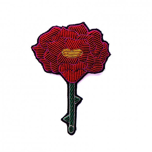 broche rose bavarde MACON & LESQUOY