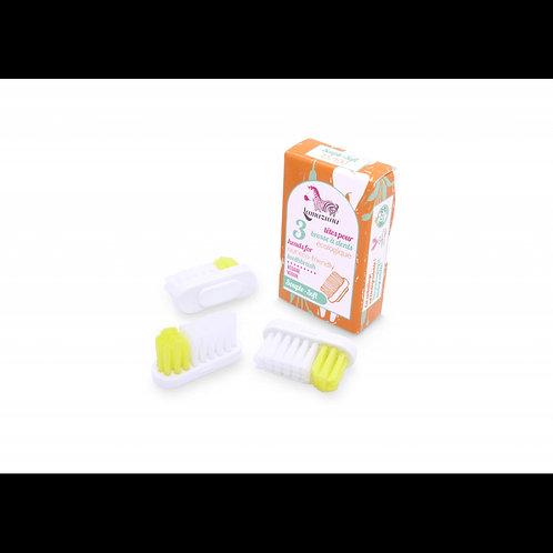 recharges 3 têtes de brosse à dents souple LAMAZUNA