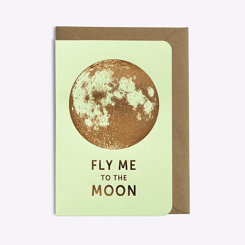carte fly me to the moon vert pistache LES EDITIONS DU PAON