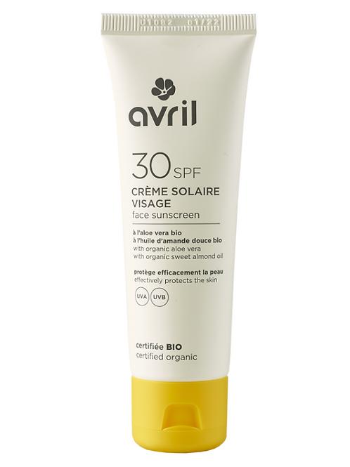 crème solaire bio SPF 30 AVRIL