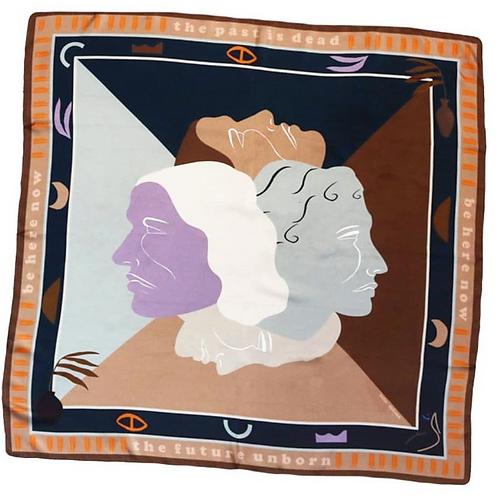 foulard duel mauve SOIE MEME