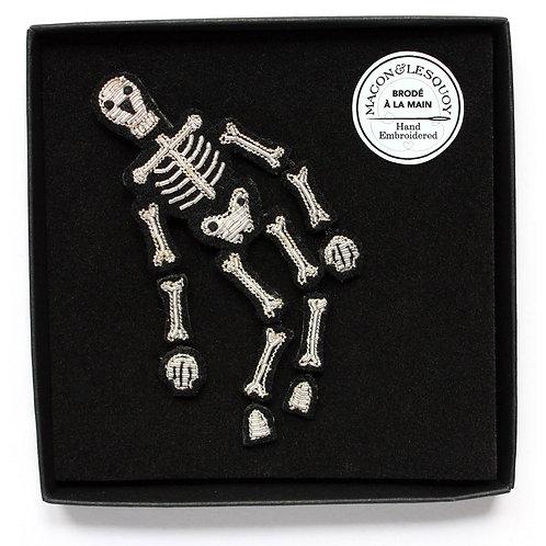 broche squelette argenté MACON &LESQUOY