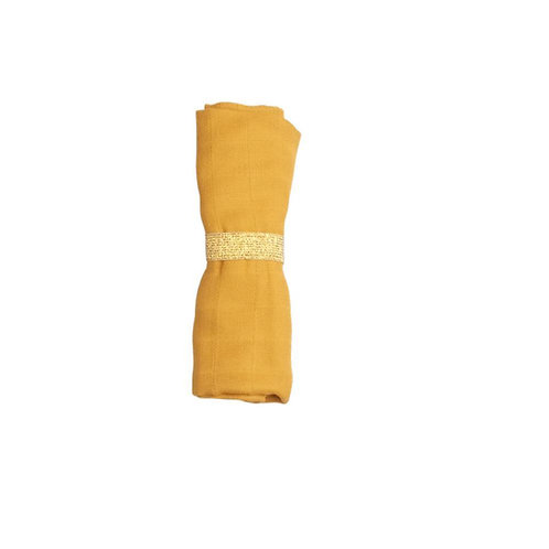 foulard/lange jaune moutarde coton bio FABELAB