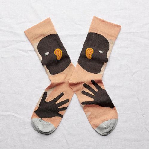 Chaussettes oreille terre d'ombre BONNE MAISON