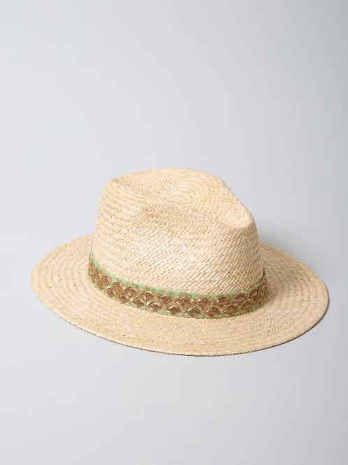 chapeau de paille cesar aqua MARADJI