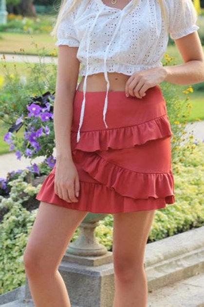 jupe églantine terracotta NOT YOUR GIRL