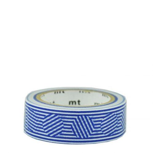 masking tape motif lignes bleues MT