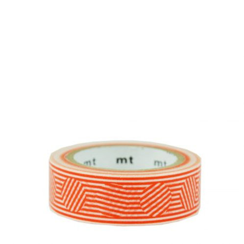 masking tape rayures oranges MT