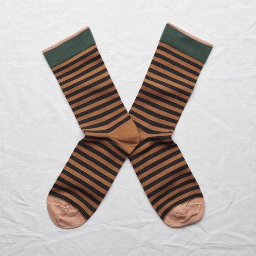 chaussettes rayures caramel BONNE MAISON