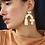 Thumbnail: boucles d'oreilles cassia WOLF & MOON