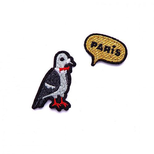 écusson pigeon parisien MACON & LESQUOY