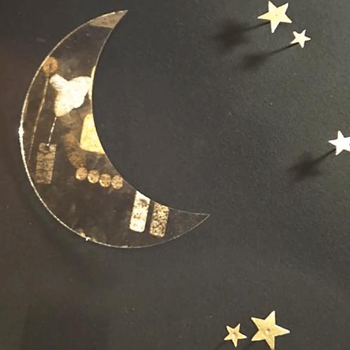 miroir désargenté lune BON COEURS