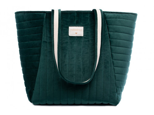 sac savanna velvet maternity jungle green NOBODINOZ