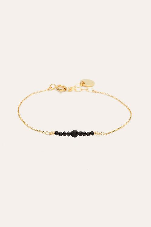 bracelet chance spinelle noire YAY