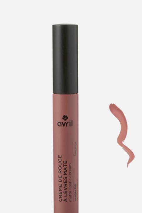 crème de rouge à lèvres mate rose vinyle bio AVRIL