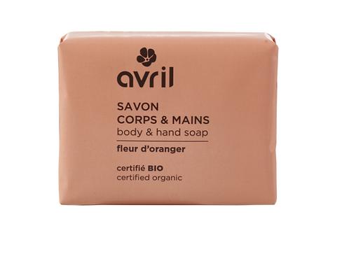 savon corps & main fleur d'oranger bio AVRIL