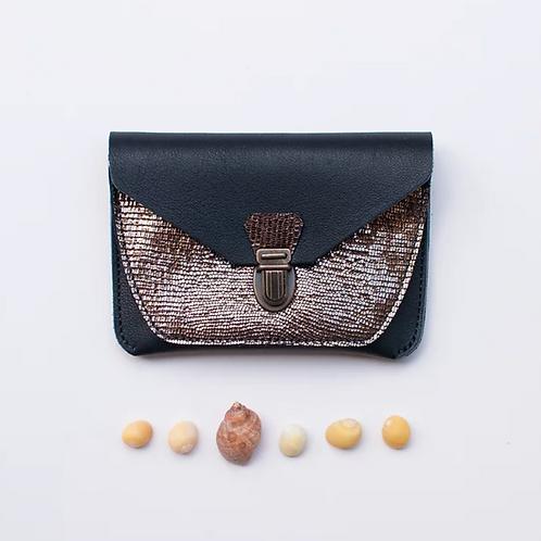 portefeuille  paimpol noir & bronze DIMANCHE