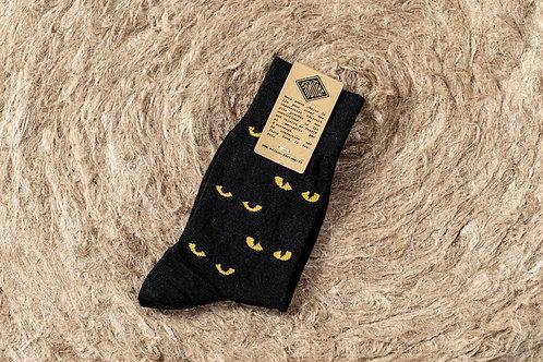 chaussette en lin yeux du chat FANTOME