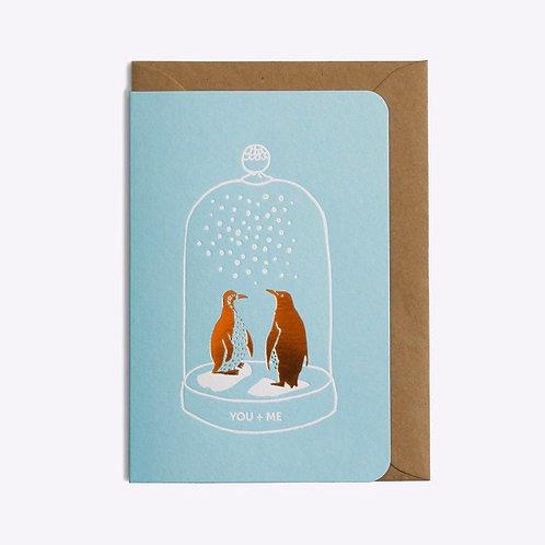 carte duo pingouins LES EDITIONS DU PAON