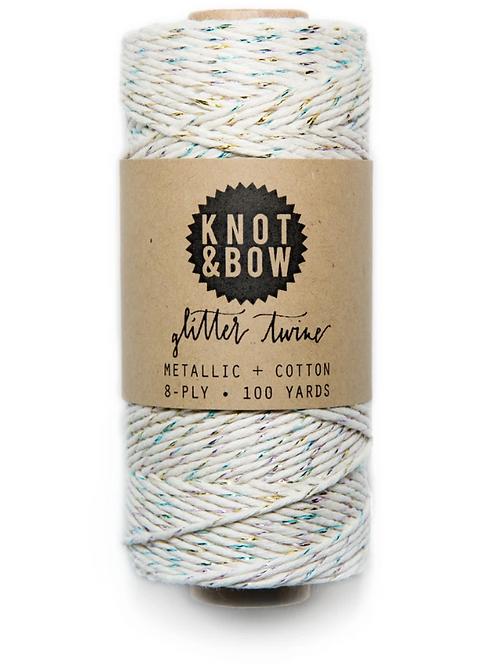 bobine de fil lurex blanc KNOT & BOW