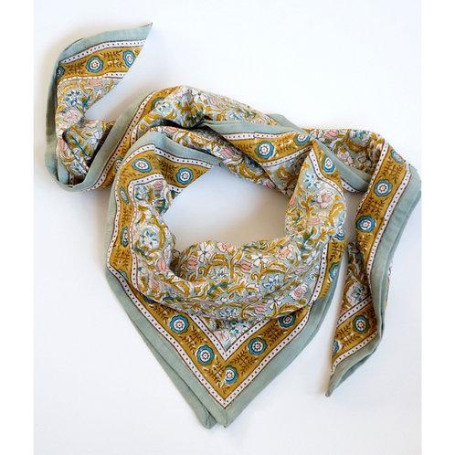 foulard absynthe green BONHEUR DU JOUR