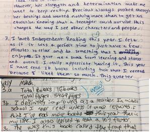 karlen shupp student notebook