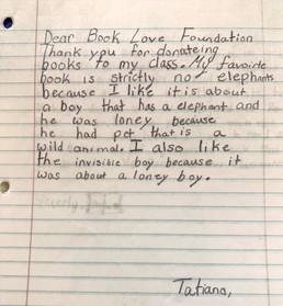 elementary student letter