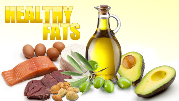 A variety of foods offering healthy fats for the body