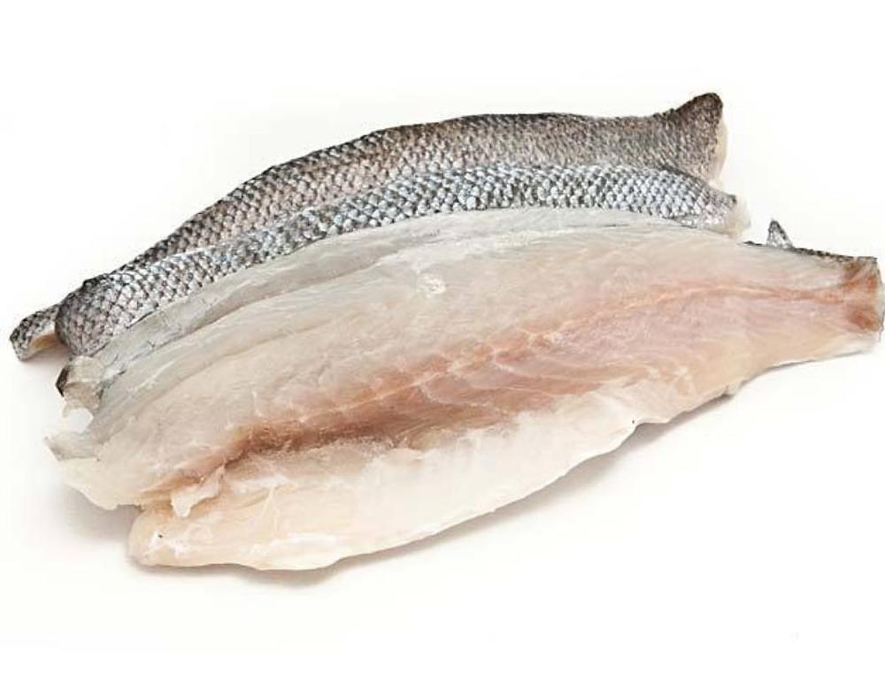 Sea bass fillets skin on
