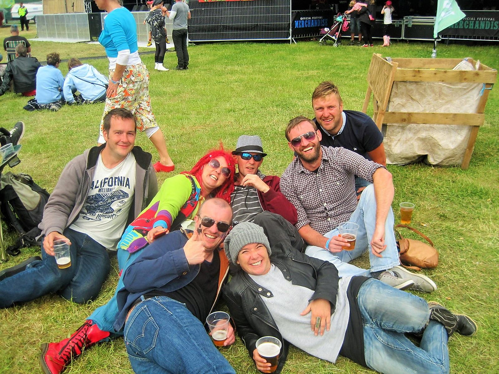 Group photo of people at a Festival